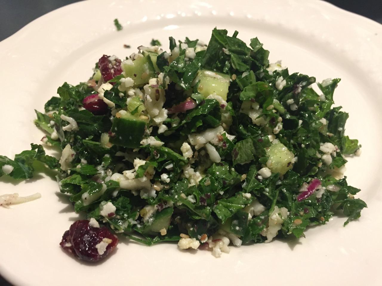 Taboulé cru au Kale