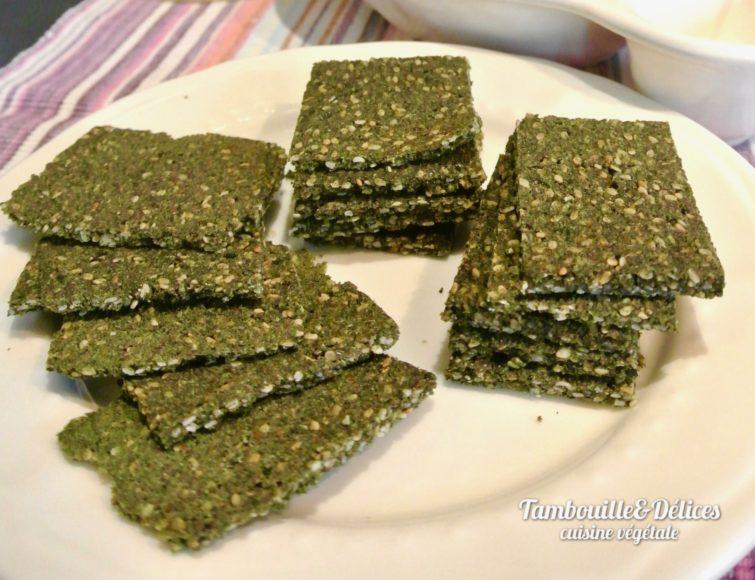Crackers crus ultra vitaminés au chou Rave
