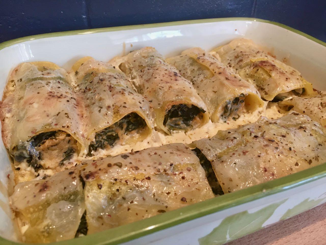 Cannelloni Fromage de Cajou épinards