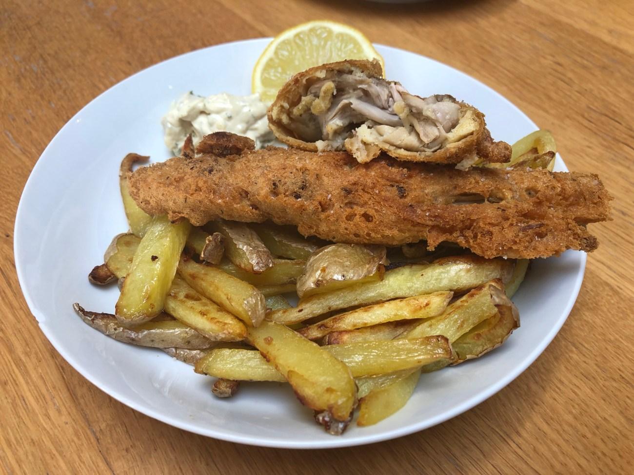 No fish & Chips aux bourgeons de bananier