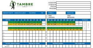 Tarjeta de juego Tambre Golf