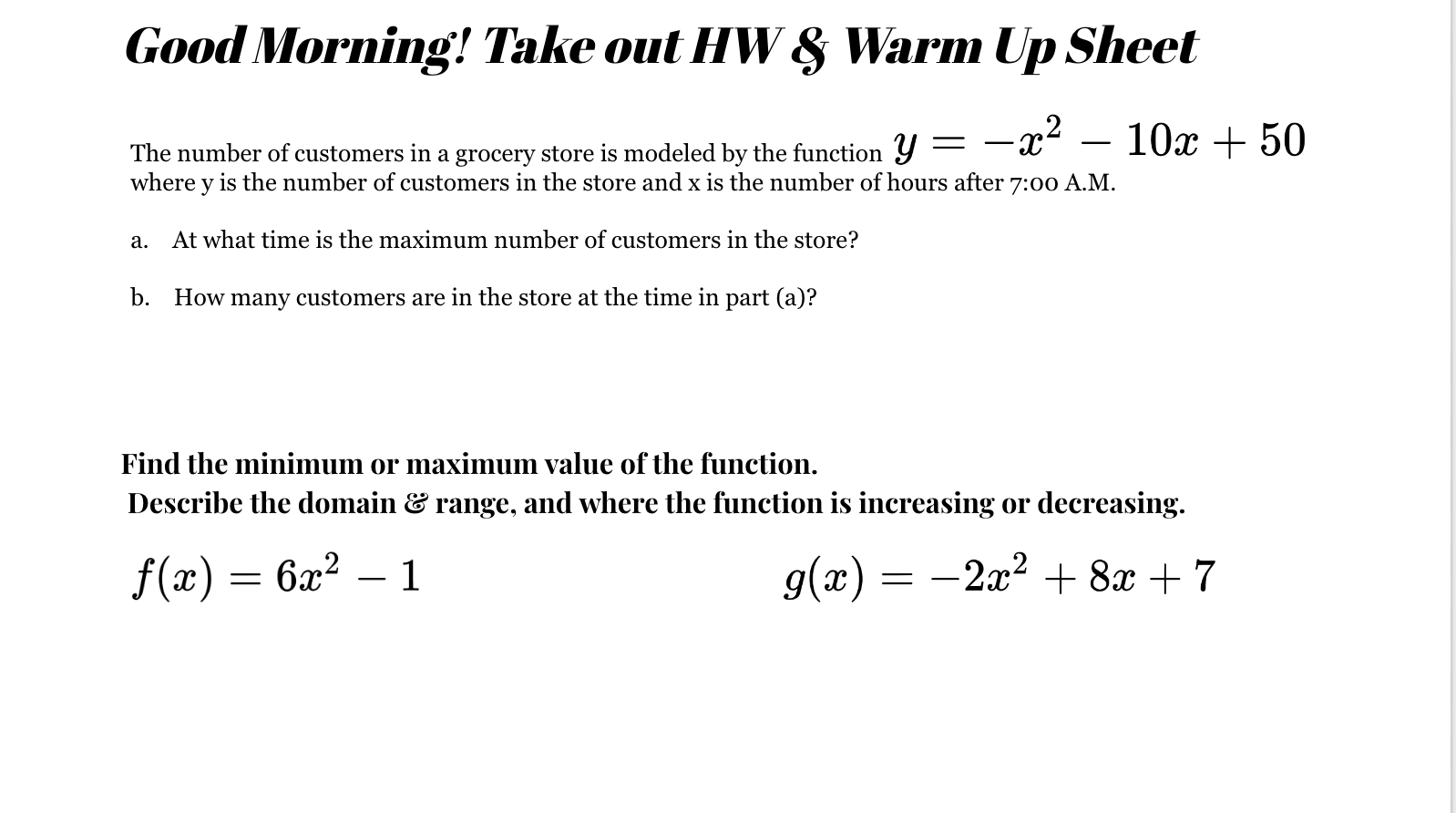 Algebra Worksheet Section 105 Answers