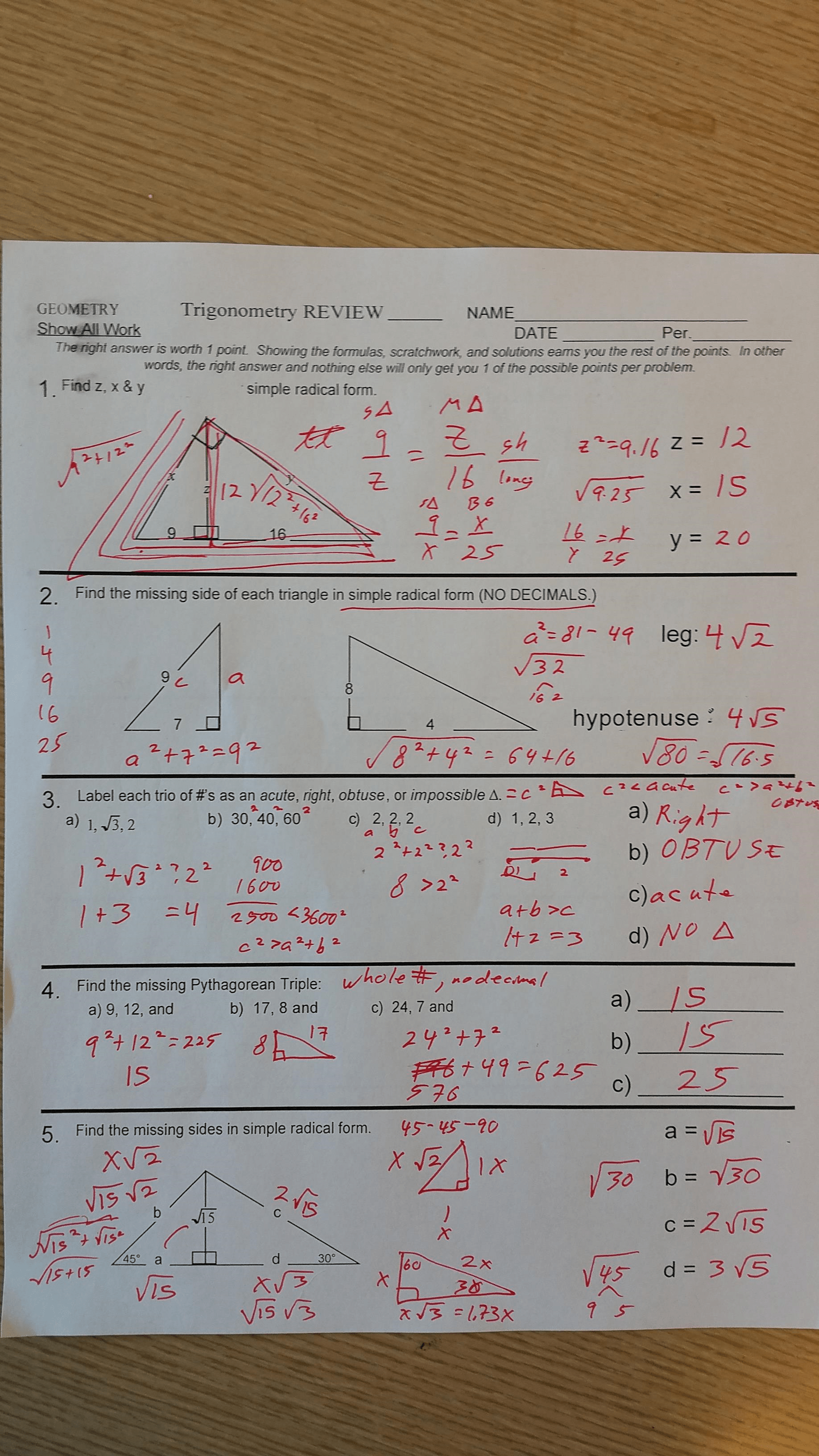 Common Core Geometry Worksheet Angles