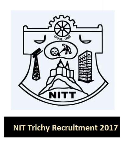 NIT Tiruchirappalli Recruitment 2017, Apply Online 05