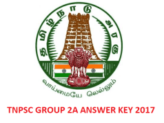 TNPSC Group 2A answer key 2017