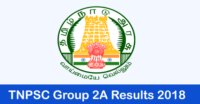 TNPSC Group 2A Results 2018