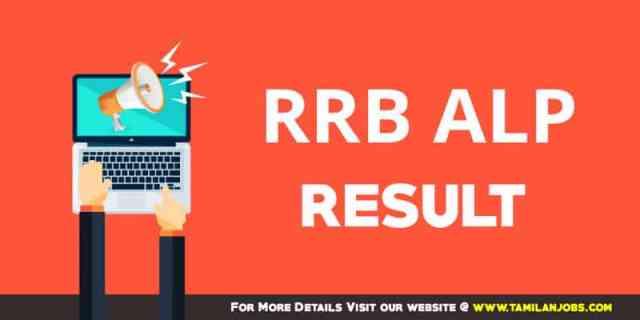 RRB ALP Thiruvananthapuram Result 2018