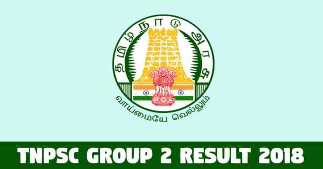 TNPSC Group 2 Result 2018