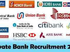 Private Bank Recruitment 2019