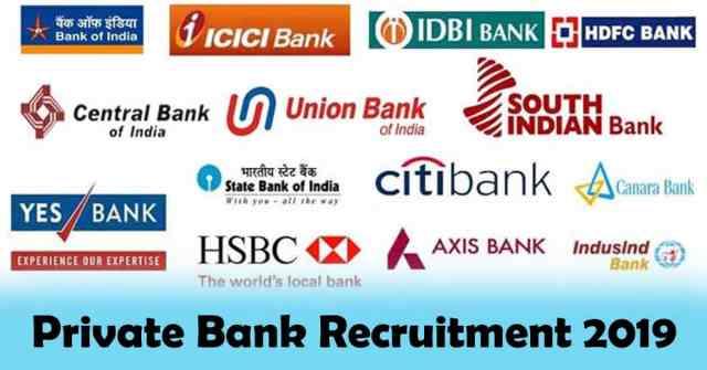 Private Bank Recruitment 2019
