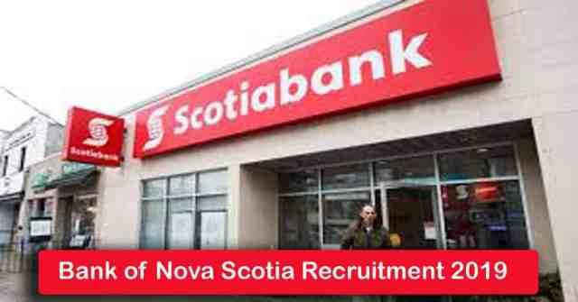 Bank of Nova Scotia Recruitment 2019