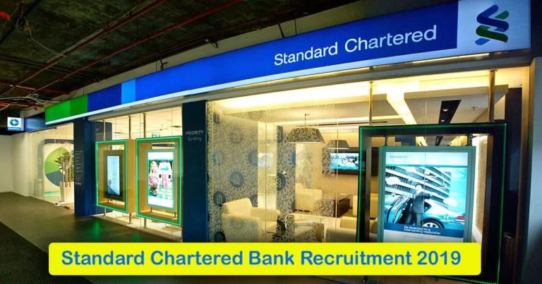 Standard Chartered Bank Recruitment 2020 – Apply 1000+ Fresher job Openings