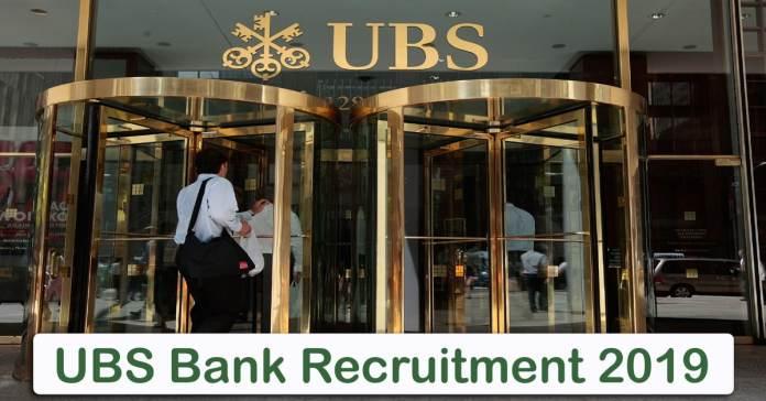 ubs bank Recruitment 2019