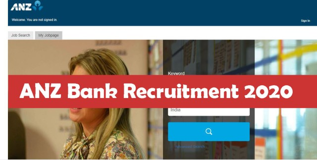 ANZ Bank Recruitment 2020