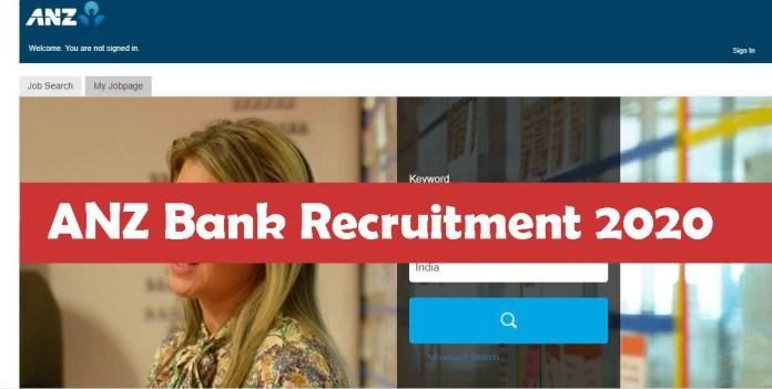 ANZ Bank Recruitment 2020
