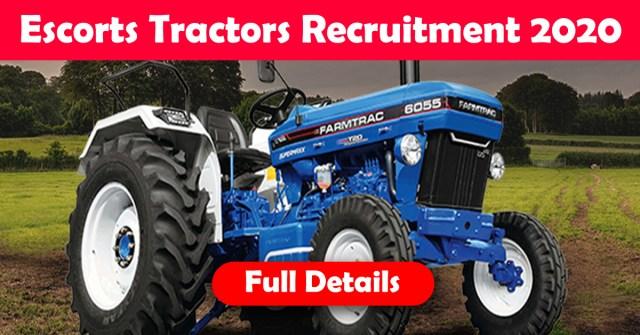 Escorts tractors Recruitment