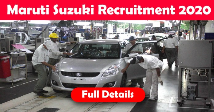 Maruti Suzuki Recruitment 2020: 200+ Fresher & experienced Job Openings