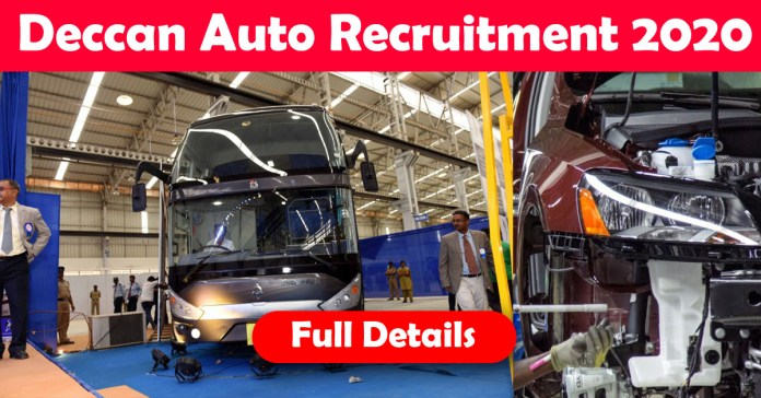 Deccan Auto Recruitment 2020: 100+ Fresher & experienced Job Openings