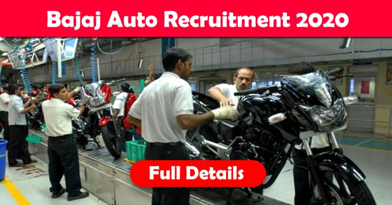 Bajaj Auto Recruitment 2020: 1000+ Fresher & experienced Job Openings