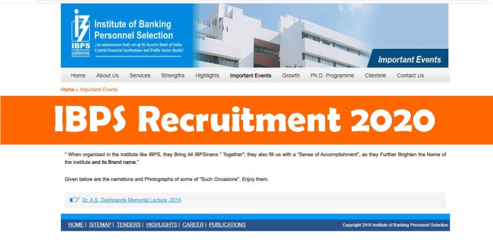 IBPS Recruitment 2020 Out – Apply Division Head Jobs
