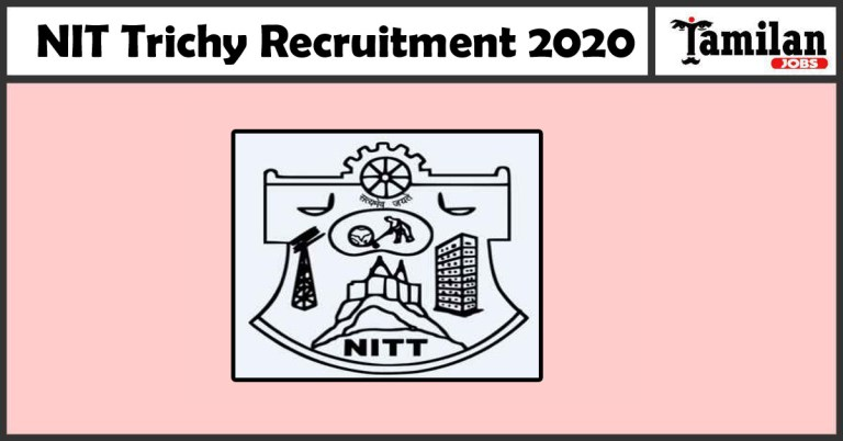 NIT Trichy Recruitment 2020 Out – Apply 06 JRF Jobs