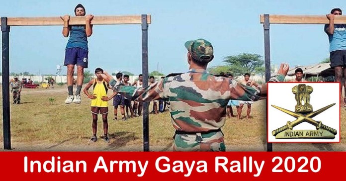 Indian Army Gaya Rally 2020 – Apply Online Various Soldier Technical Posts