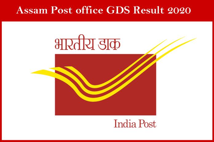 Assam GDS Result 2020 Soon, Assam Postal Circle Selection List