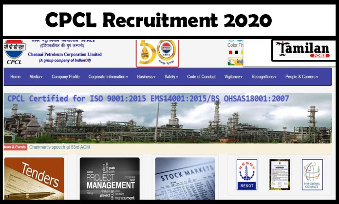 CPCL Recruitment 2020