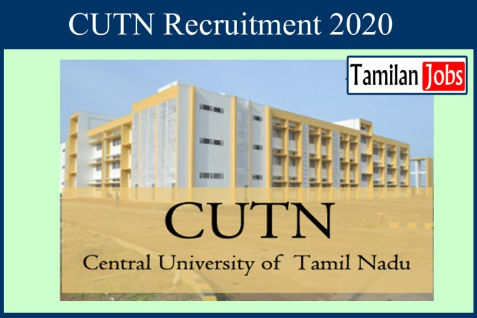 CUTN Recruitment 2020 Out – Apply Online Guest Faculty Jobs