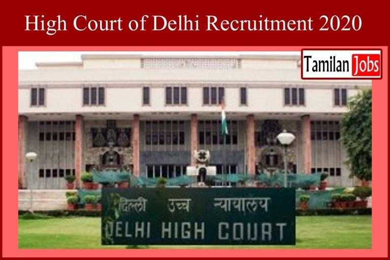 Delhi High Court Recruitment 2020 Out – 38 Restorer Jobs