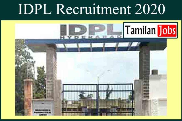 IDPL Recruitment 2020