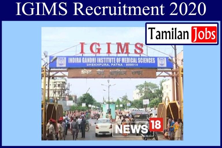 IGIMS Recruitment 2020 Out – Apply 60 Senior Residents, Tutor Jobs