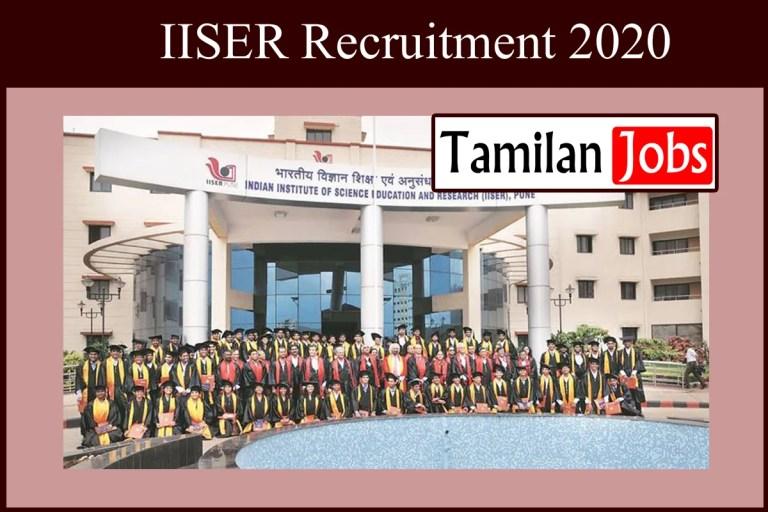 IISER Recruitment 2020 Out – Apply 81 Sports Officer Jobs