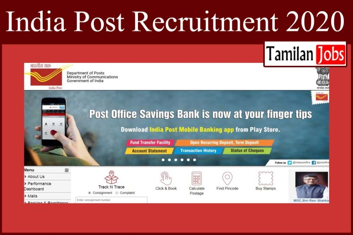India Post Recruitment 2020 Out – Apply Online 442 GDS Jobs
