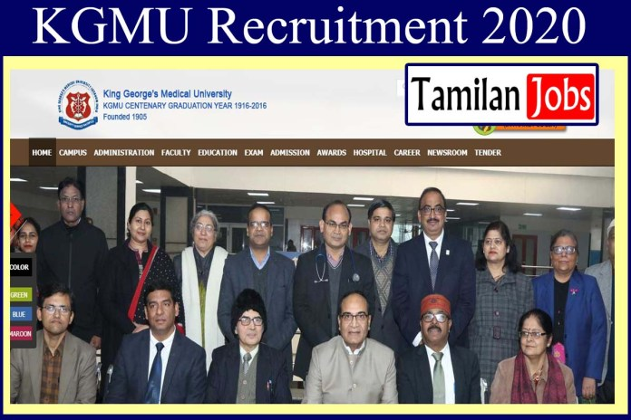 KGMU Recruitment 2020 Out – Apply For Lab Assistant Jobs