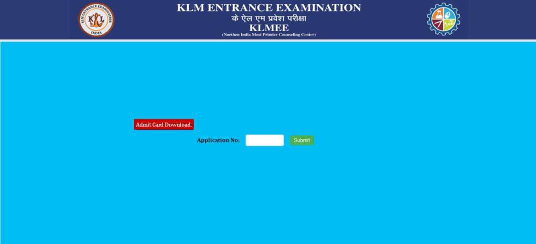 KLMEE Admit Card 2020