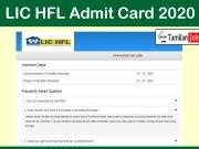 LIC HFL Admit Card 2020