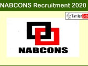 NABCONS Recruitment 2020