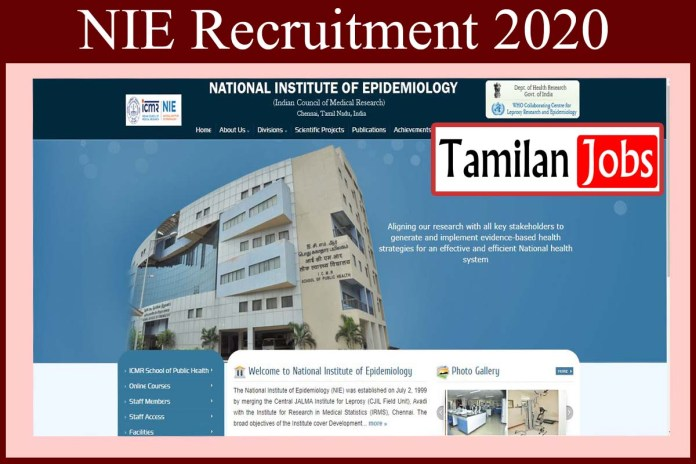 NIE Chennai Recruitment 2020 Out – Apply Project Scientist Jobs
