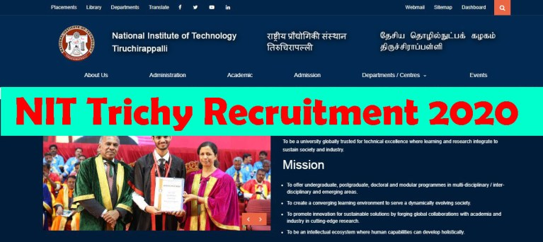 NIT Trichy  Recruitment 2020 Out – B. E / B. Tech Candidates Apply For Project Assistant Jobs