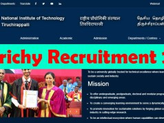 NIT Trichy Recruitment 2020