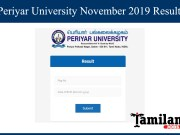 Periyar University Novermber Results