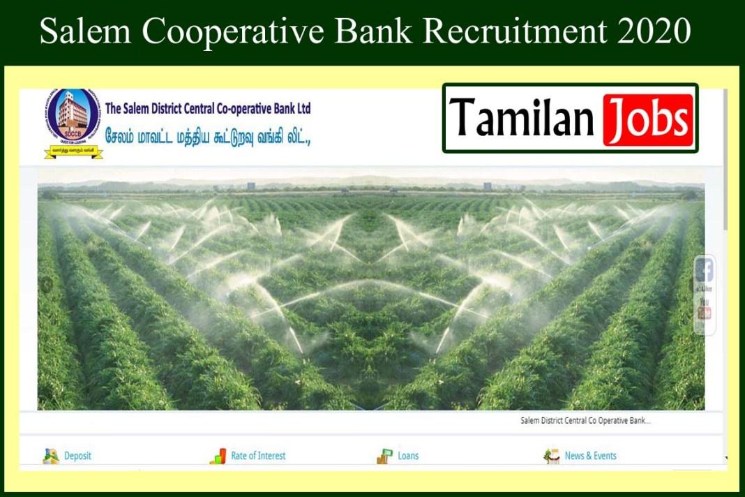 Salem Cooperative Bank Recruitment 2020