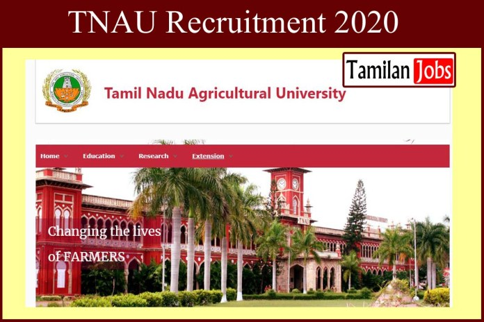 TNAU Recruitment 2020 Out – Apply 56 Food Analyst Jobs