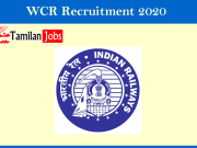 wcr recruitment 2020