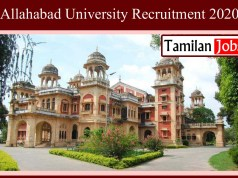 Allahabad University Recruitment 2020