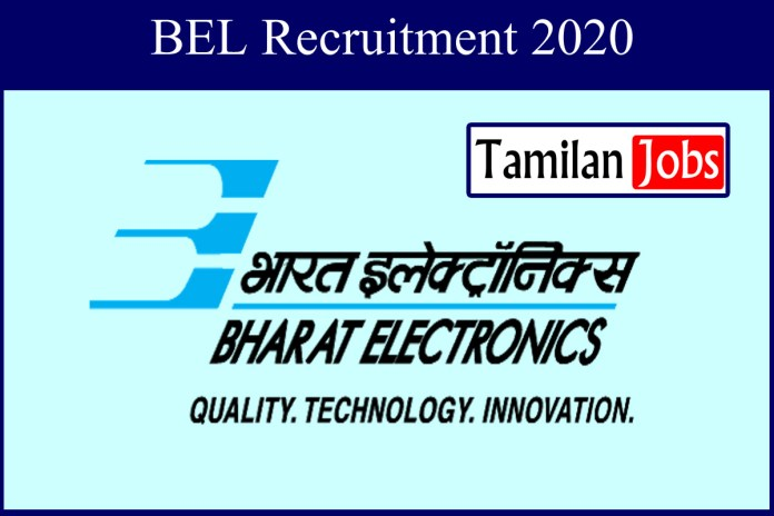 BEL Recruitment 2020 Out – Apply 14 Project Engineer Jobs