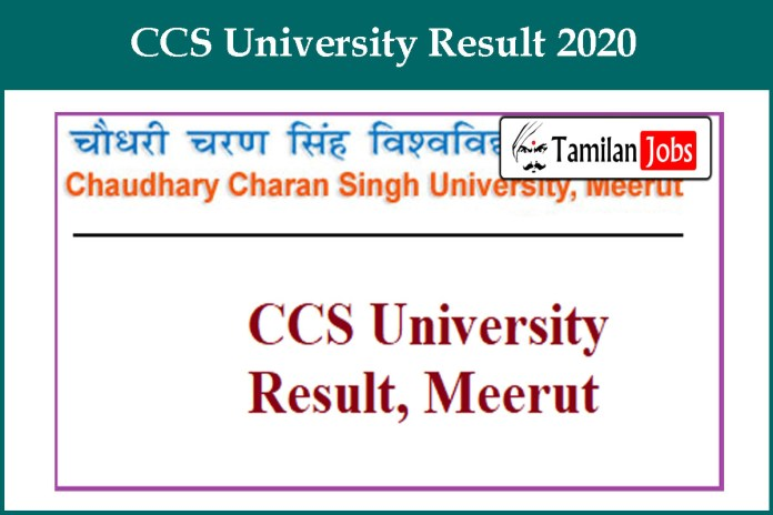 CCS University Result 2020 OUT | CCSU Meerut BA, BSc, BBA, MA, MSc Results @ ccsuniversity.ac.in