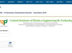 CIPET PGD PPT & PD PMD Result 2020