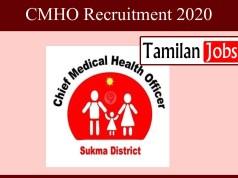 CMHO Recruitment 2020